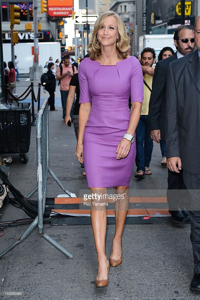 TV personality Lara Spencer enters the 'Good Morning America' taping at the ABC Times Square Studios on August 22, 2012 in New York City.