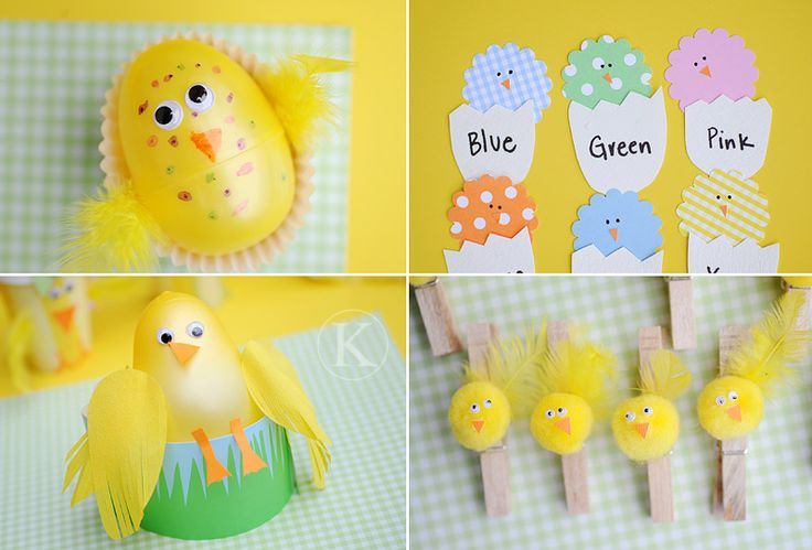 Chicks... lots of ideasChicks Crafts, Chicks Colors, Activities For Kids, Easter, Chicks Ideas, Chickie Clothespins, Clothespins Ideas, Colors Matching, Baby Chicks