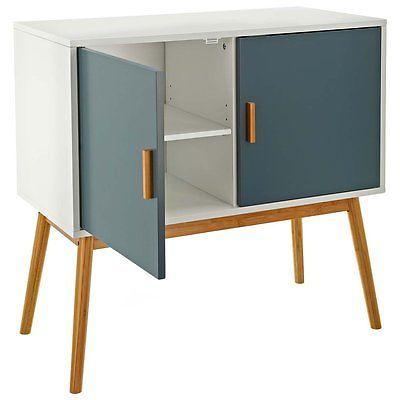 Fancy No Retro Design Kommode Sideboard Schrank Anrichte Holz mit zwei Fl gelt ren