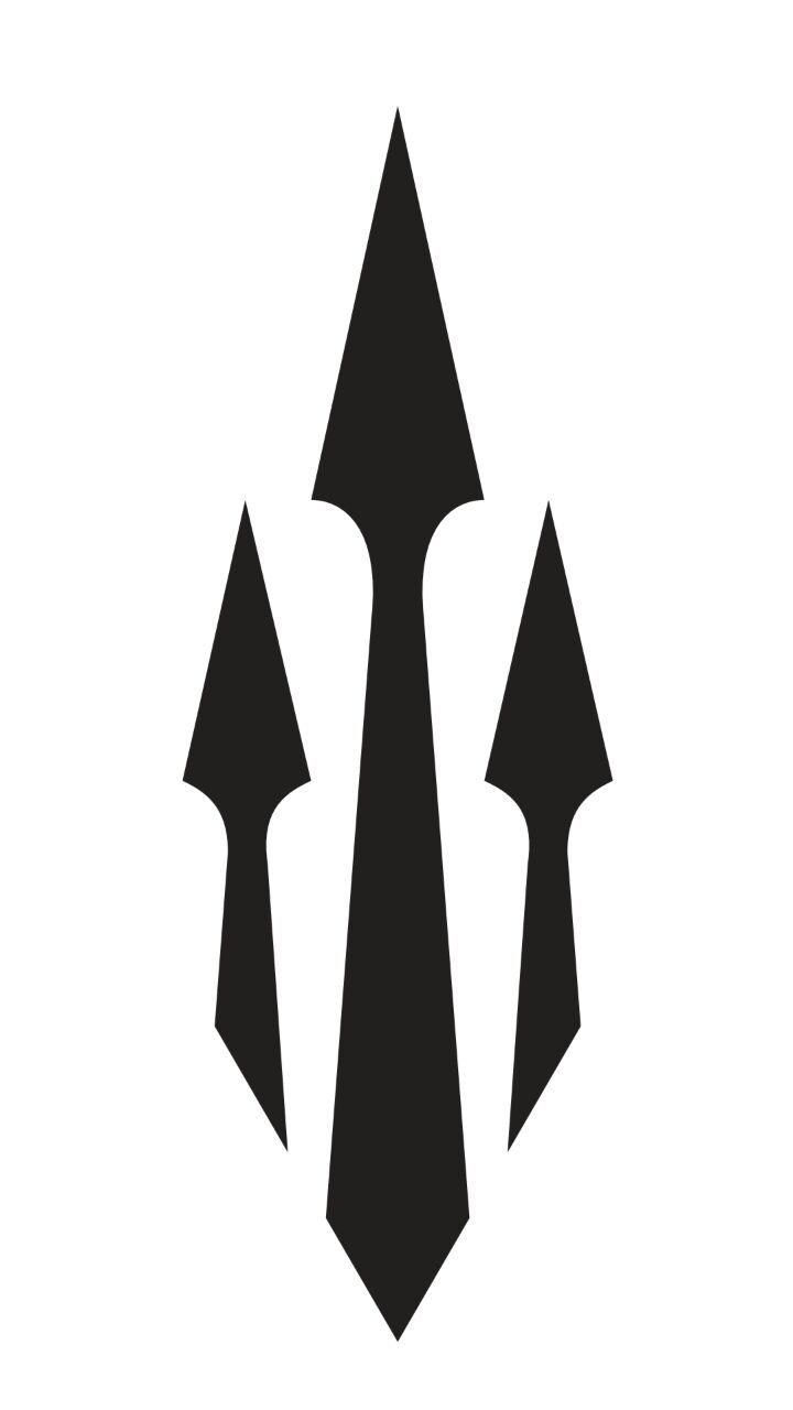 Poseidon trident tattoo                                                                                                                                                                                 Mais