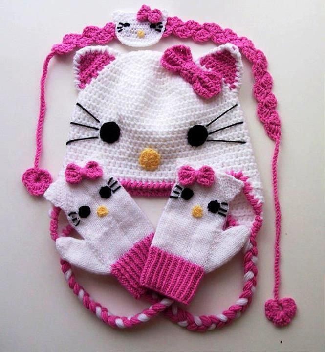 Free Crochet Pattern For A Hello Kitty Hat : En iyi 17 fikir, K?z Bebek ?apkalar? Pinterestte Bebek ...