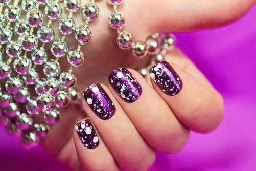 Nail Art For Beginners - Snow Manicure