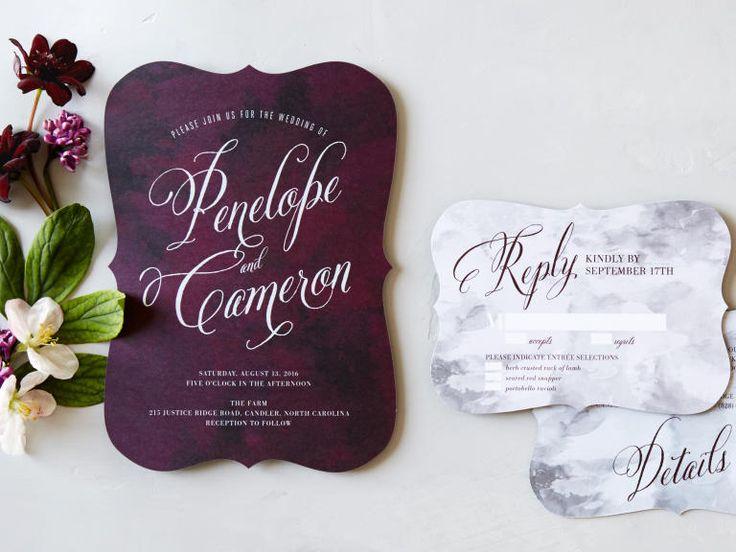 best 25+ plum wedding invitations ideas on pinterest | invitation, Wedding invitations