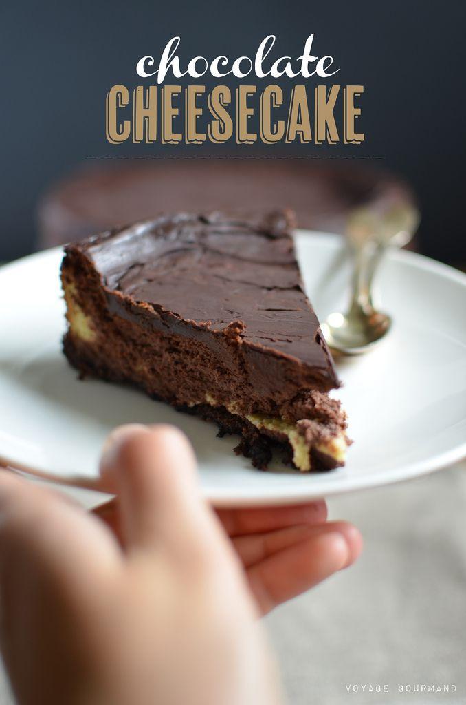 Un cheesecake au chocolat