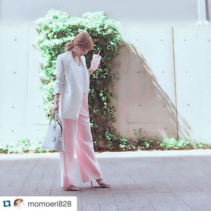 #Repost @momoeri828 with @repostapp. ・・・ 今日のrocottaコーデ⚜⚜ シャーベットピンクのワイドパンツが可愛すぎる→@rocotta_official ♡楽ジュアリーワイドパンツ ♡ゆる丈サマージャケット ♡フレンチスリーブシフォントップス ♡ロコッタカラーバッグ・ペールグレー(web5月2日発売) ♡パールアクセ  #rocotta #moery #new #pink #fashion #ootd #love #happy #instagood #シャーベットピンク #ロコッタ #モエリー #ワイドパンツ #ジャケット #春 #大人女子 #ママコーデ #パール #アクセサリー #instasize #fashionista  #instagood #goodmorning