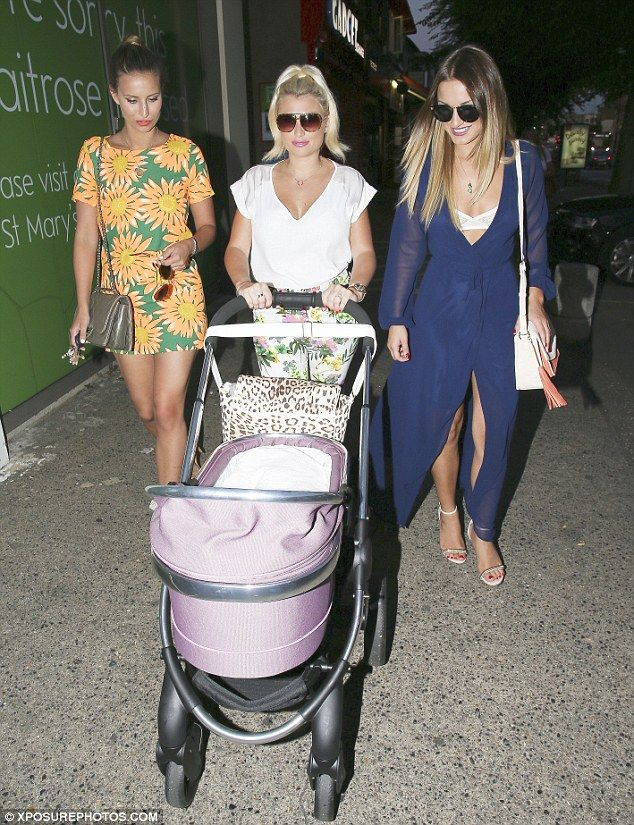 You've got to stroll-er with it: Billie Faiers takes baby Nelly out for an early evening walk with sister Sam and Ferne McCann   Read more: http://www.dailymail.co.uk/tvshowbiz/article-2703476/Billie-Faiers-enjoys-early-evening-Sam-Ferne.html#ixzz38Tkqpb9W