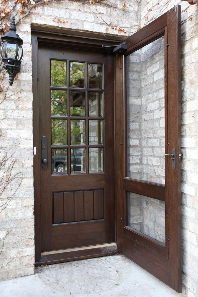 1000 ideas about walnut doors on pinterest primed doors On exterior wood door with screened window