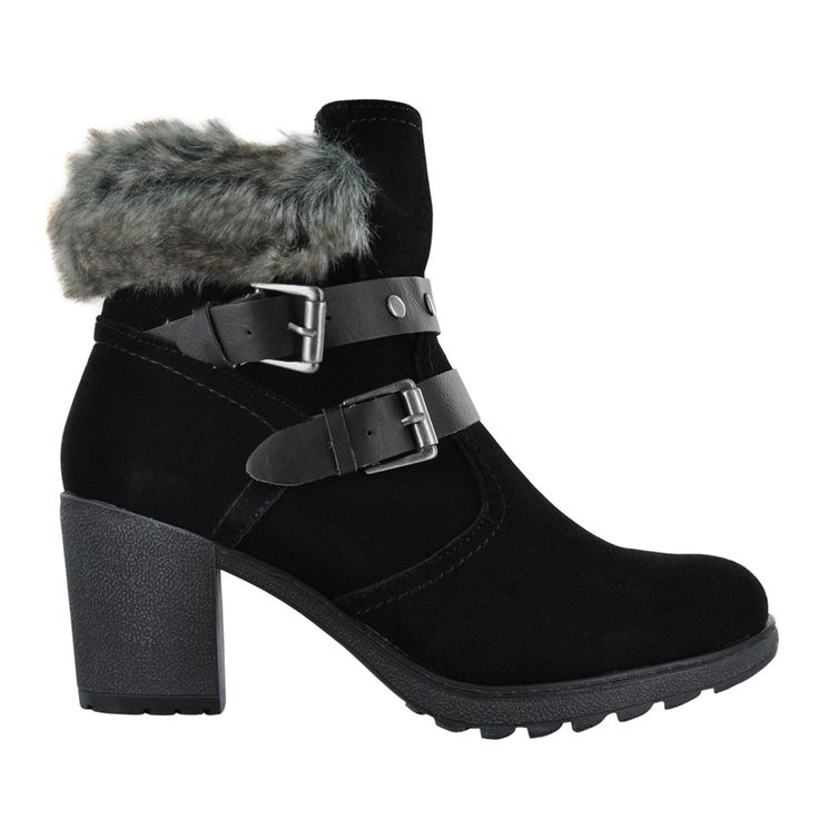 Dress Heel W/ Fur Trim