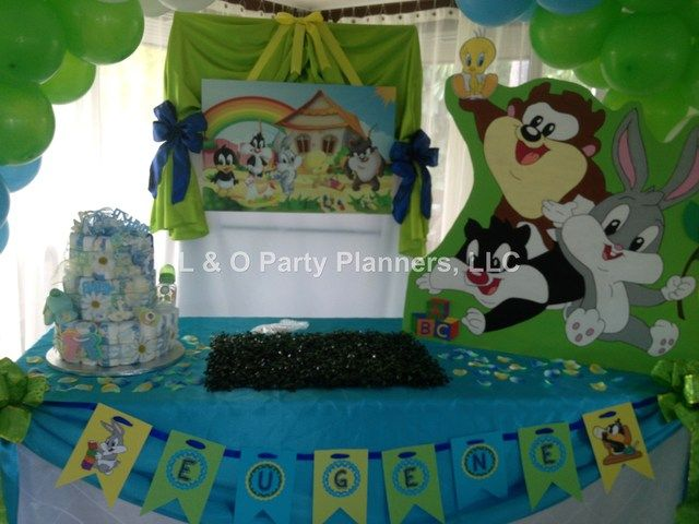 Baby looney tunes baby shower party ideas looney tunes for Baby looney tune decoration