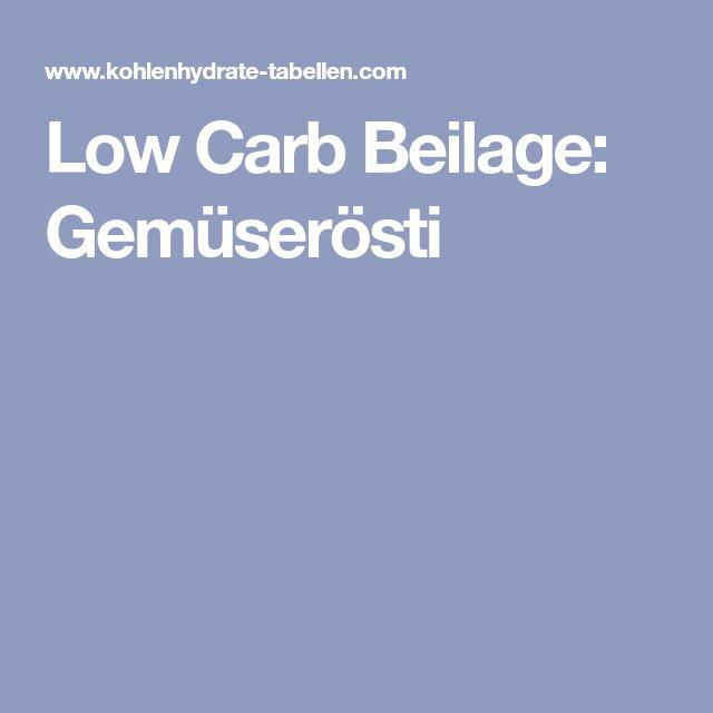 Low Carb Beilage: Gemüserösti