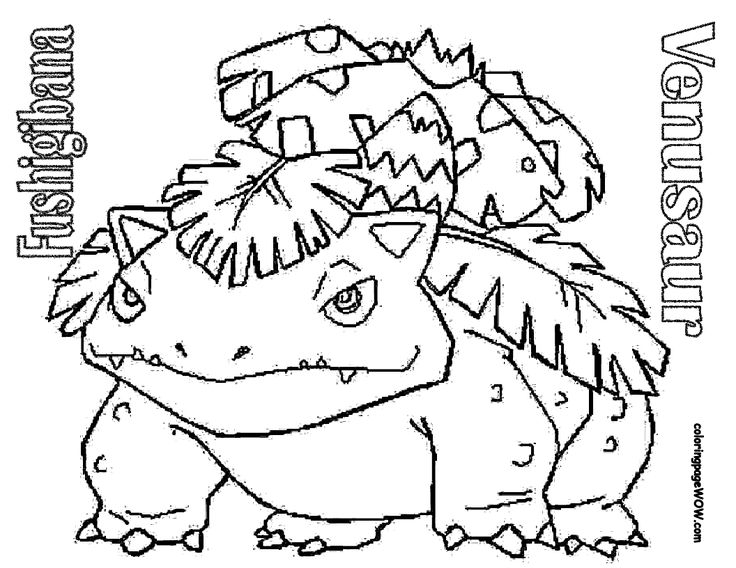 Pokemon Free Printable Coloring Sheets