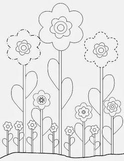 Moldes para apliquê: Flores