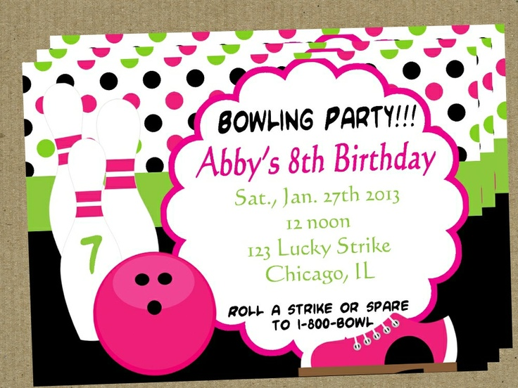 Best Bowling Party Images On   Bowling Party
