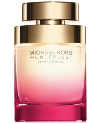Michael Kors Wonderlust Sensual Essence Eau de Parfum Spray, 3.4 oz. $116.00 Introducing Michael Kors Wonderlust Sensual Essence, a luxurious interpretation of the original fragrance that conjures the exhilaration of new adventure. Rich, bold and alluring, this fragrance combines the juicy freshness of pear and black cherry with lush florals and a warm suede finish.