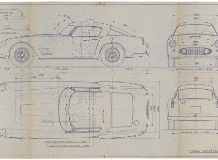 53 best ferrari blueprint images on pinterest technical drawings original ferrari blueprints coolest bachelor pad art money can buy malvernweather Gallery