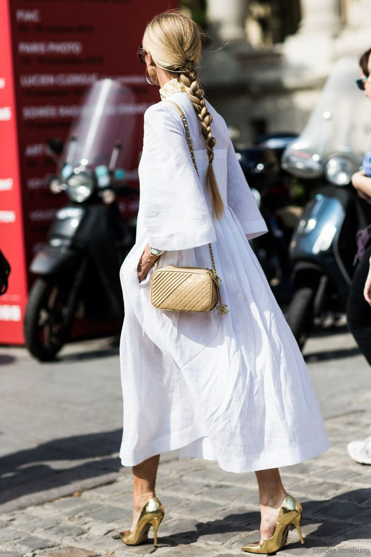 Laura Bailey in Paris. PFW Chanel.