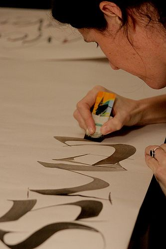 Betina Naab - calligraphy in action