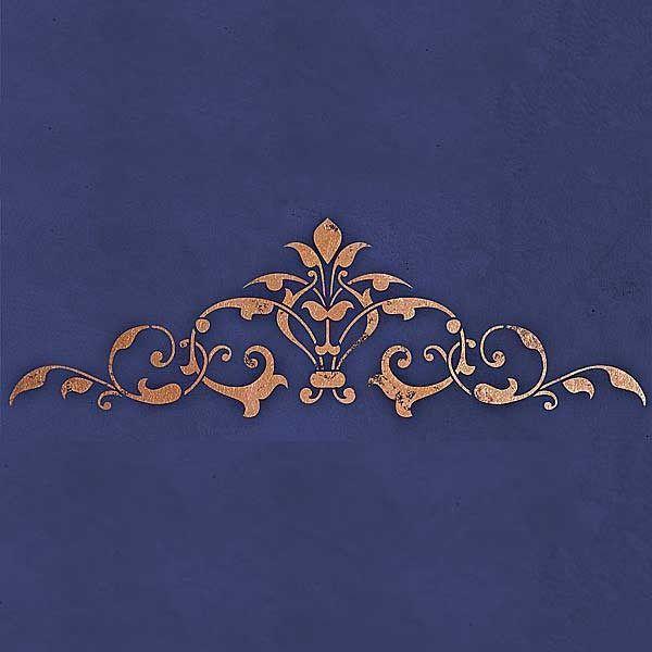 Ceiling Stencils | Arabesque Center Stencil | Royal Design Studio