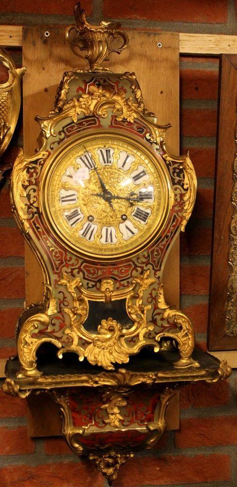 Antike Wanduhr Kartell Uhr Boulle Aus Feuervergoldete Bronze