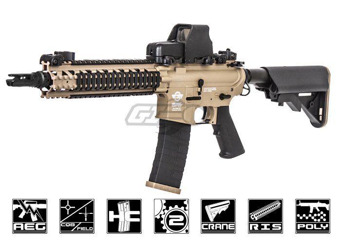 G&G Combat Machine CM18 Mod 1 M4 Carbine AEG Airsoft Gun ( Tan / Black )
