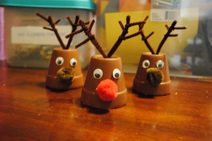 1000 Images About Clay Pots On Pinterest Christmas