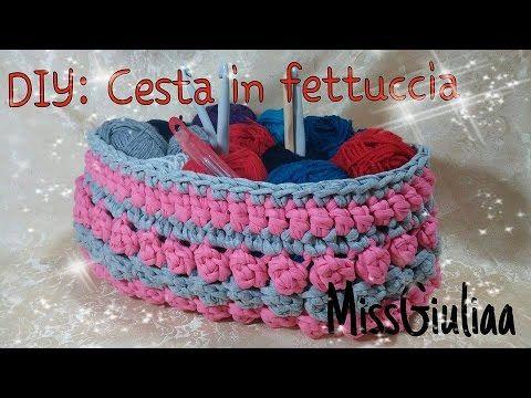 Tutorial Cesta in fettuccia crochet | DIY passo a passo | Cesta XXL | Punto popcorn - YouTube