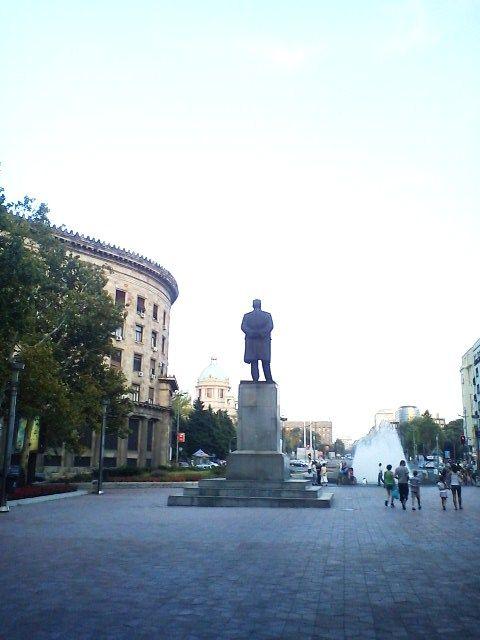 Statue of Karl Marx in Belgrade
