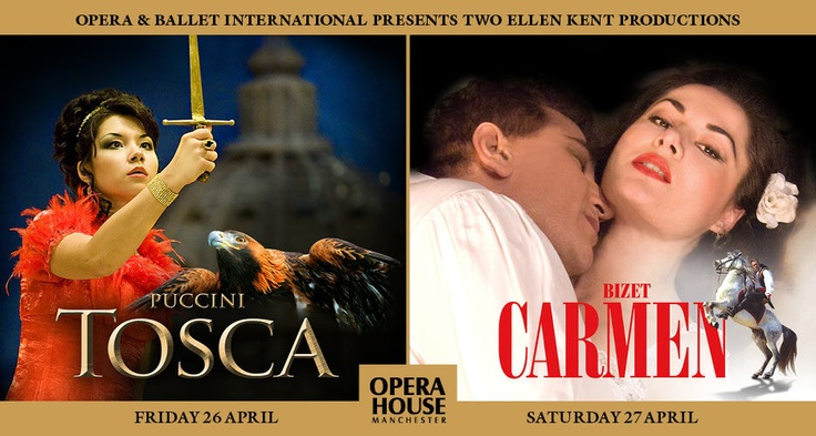 Tosca & Carmen - Manchester Opera House - Friday 26th & Saturday 27th April 2013 Call now for your accomadation Prices Start at £40.00 per night B call 07976208761