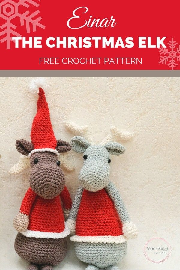 Amigurumi Christmas Elk Crochet Pattern: 30 Days of Cozy | Grace and ...