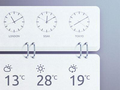 World Time Widget - PSD please?