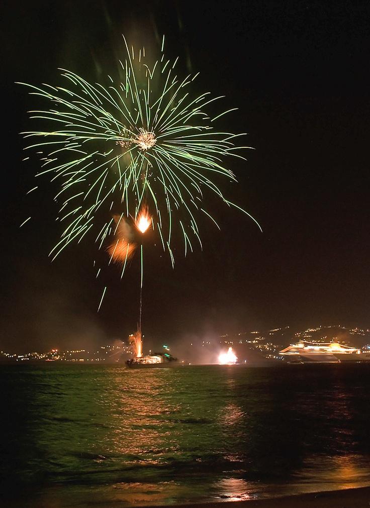 August 15th fireworks, Paros