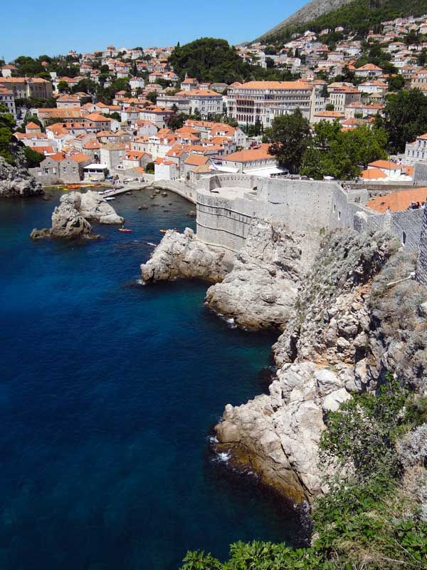 View of Dubrovnik from the old city wall.