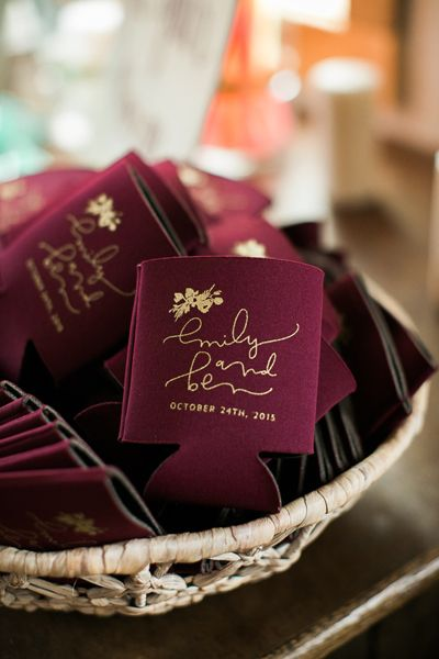 customized wedding koozies favor ideas