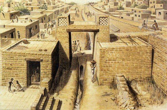 Mohenjo-daro - A natureza avançada desta civilização pode ser vista com as suas ruas ordenadas e sistema de drenagem. Não há palácio ou complexo, ou templo. Isso levou alguns a considerar a civilização do Vale do Indo como igualitária. A inundação parece ter destruído a cidade, e novas cidades foram construídas diretamente sobre as ruínas. Abandonada por volta de 1800 A.C., redescoberta em 1922.