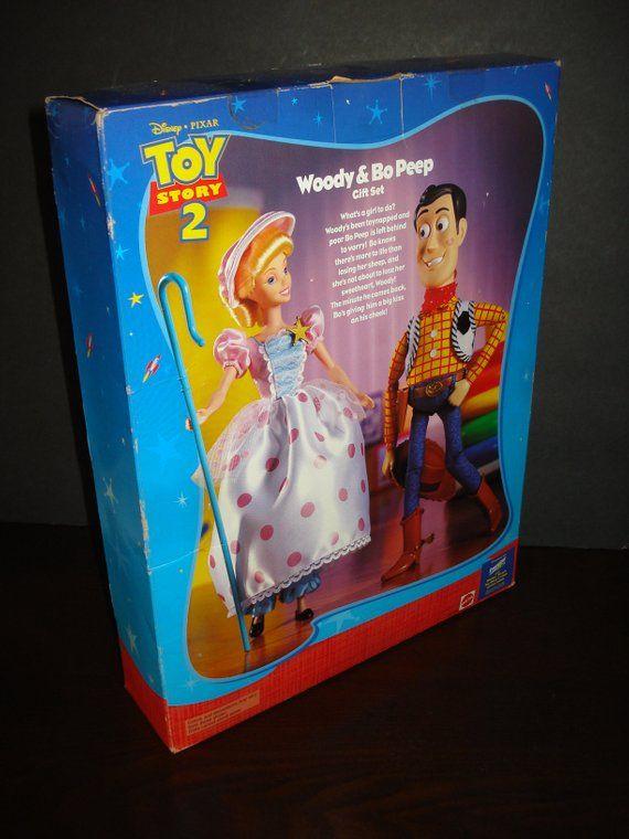 Disney Toy Story 2 dolls NIB Woody and Bo Peep Gift Set Mattel 23785 ... 844e83d959d