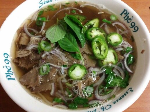 I don't really like beef but these days I love this pho with well-done flank and tendon! Gotta eat every week. Love it!  Pho = 베트남 (월남) 국수 (bae-teu-nam-guk-su)  www.mylanguageconnect.com