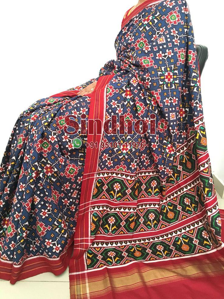 Patan Patola saree by sindhoi Patola Whatsapp +919510111976