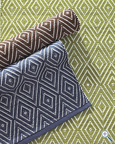 Diamond Indoor-Outdoor Woven Rug by Dash and Albert in Sprout as a possibility for Liam's room