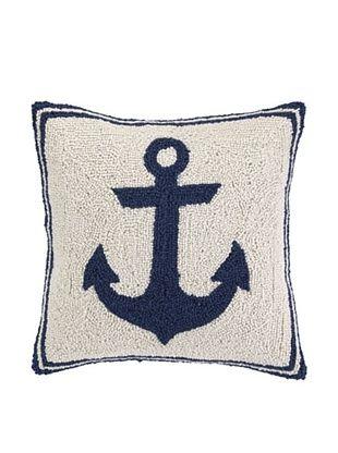 50% OFF Peking Handicraft Blue Anchor Hook Pillow