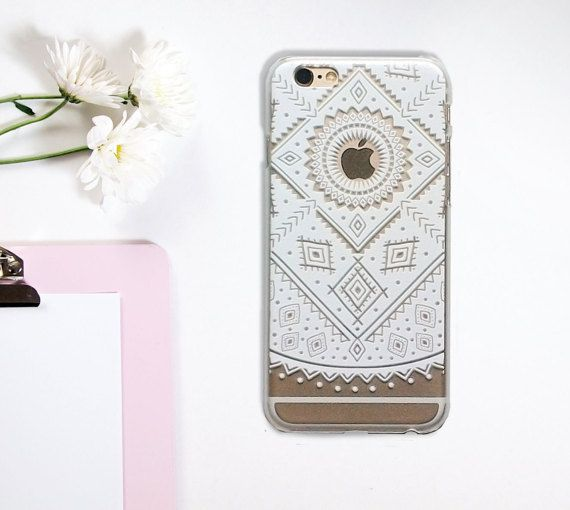 Transparent Mandala Geometric Winter iPhone 6 6S by GreenyView