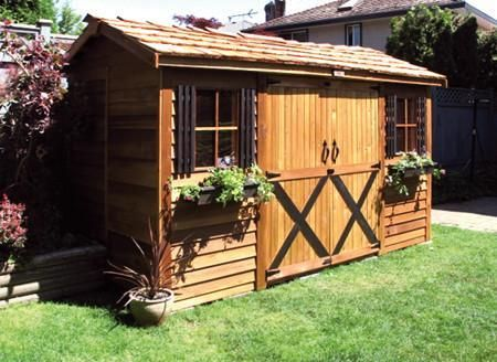 Cedar Shed Longhouse 12' x 6' Double Door Storage Shed Kit LH126