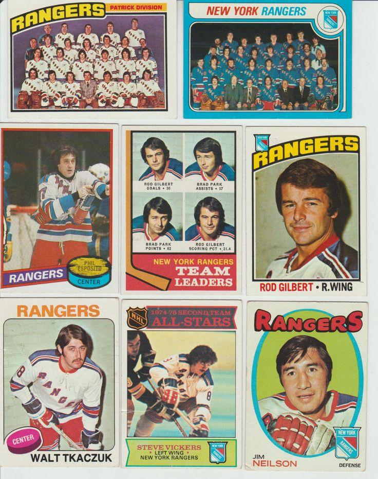 NEW YORK RANGERS team 22 cards lot Topps 1971 - 1980 HOF Esposito Park Gilbert #NewYorkRangers