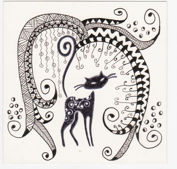The gallery for gt Zentangle Cat