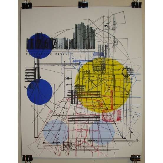Perspective Architecture Screen Printed Art Poster by delaflamant - Photo