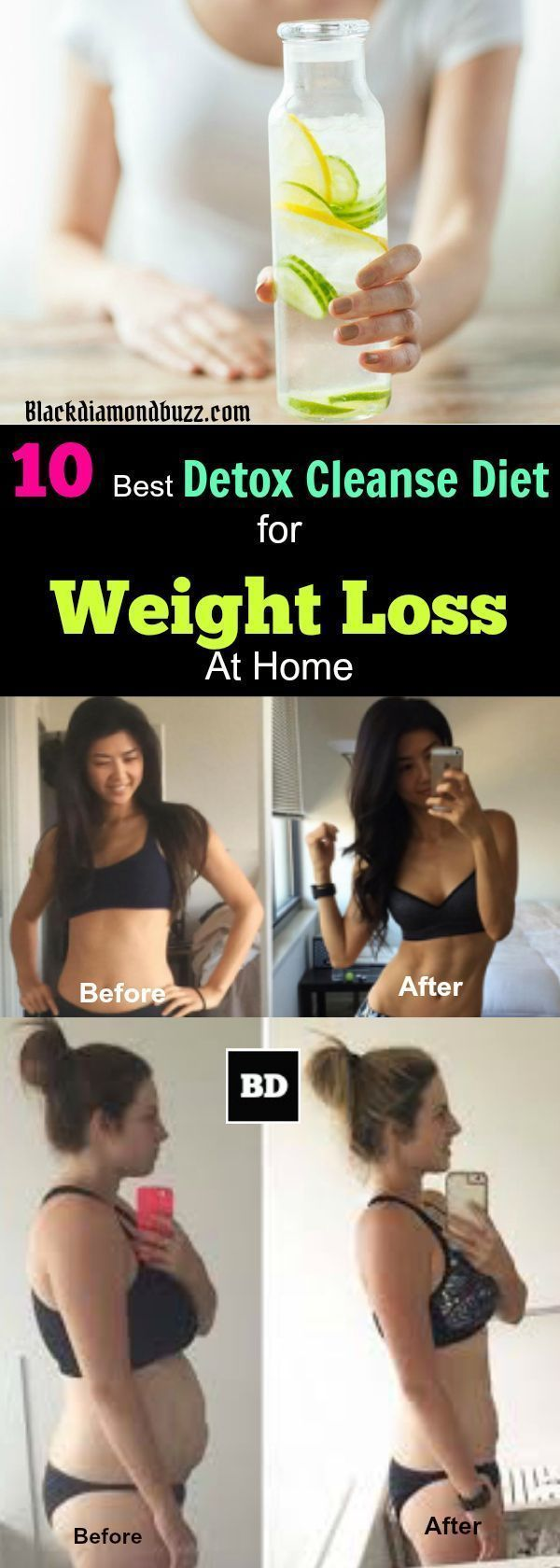 Detox Diet :10 Best Detox Cleanse Diet for Weight Loss At Home- You consider these options of detox your body in 3 day or /and 7 day that make you lose 10 pounds or more and flush out fat deposits toxins in your belly and body in general. Colon cleanse a #CleanseAndDetoxDiet