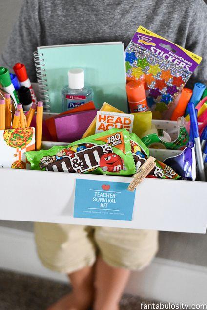 Teacher Survival Kit - Teacher Gift Idea  #CrispyMMSummer #CleverGirls @mmschocolate  http://fantabulosity.com