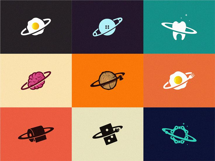 Series Of Creative Planets Logo Design Creative Planet Design