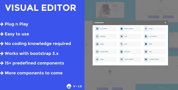 awesome Visual editor - A drupal eight.x web page builder (Drupal)