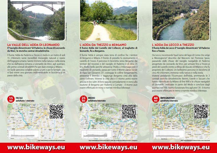 Alcuni degli itinerari ciclabili in Lombardia, nelle zone del nostro Bikeways Point di Sulbiate, Stucchi&Co Bike Rental