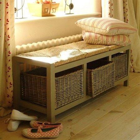 Large Wicker Storage Seat Rattan furniture is a... —